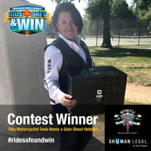Ride Safe & Win Contest Winner